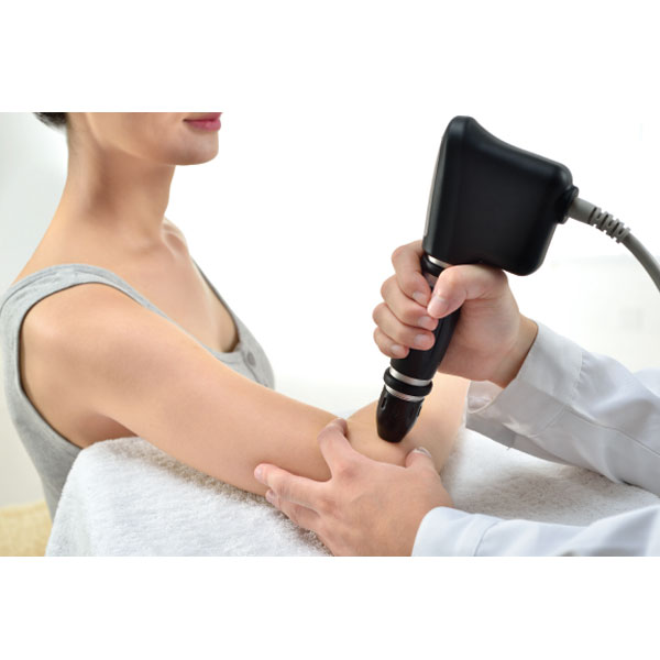 Radial Pressure Pulse Therapy Elbow Application