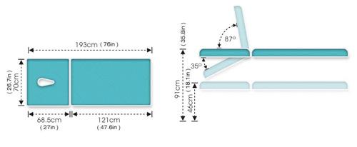 ME4500 Therapeutic Table Specs