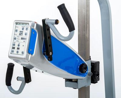 APT Plus mounted on Hi-Lo stand, close up