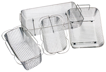 Baskets for the ultrasonic cleaners